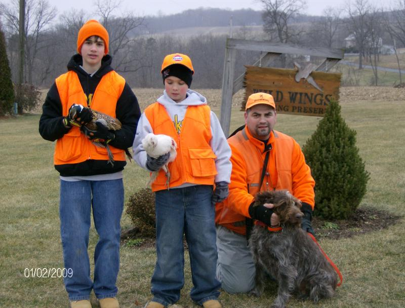 """Young hunters at """" Bittner's Wild Wings"""""""